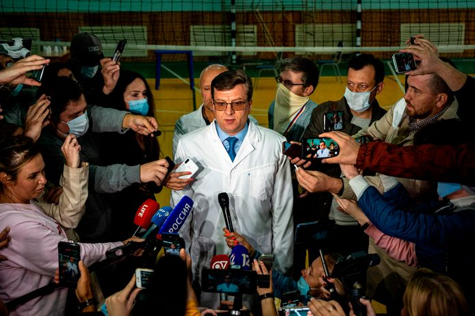 Alexander Murakhovsky répond aux questions des journalistes, le 21 août 2020.