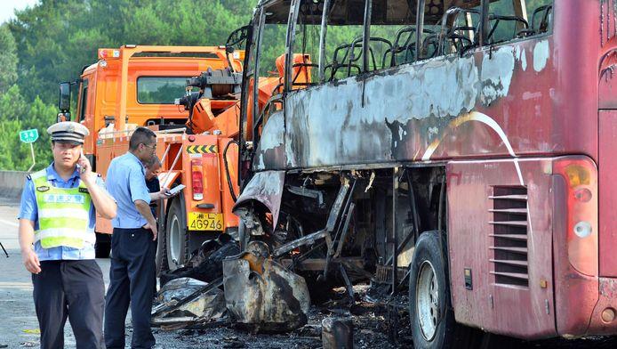 Bij een buscrash op 26 juni kwamen ook al 35 inzitten om het leven in China.