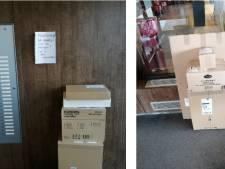 Postpakketten staan in de weg en laptops liggen voor het grijpen: zorgcentrum is het gedoe helemaal beu