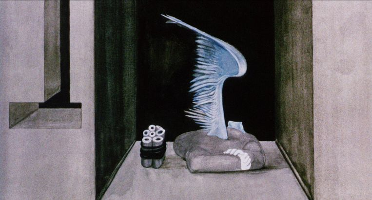 still uit: Les jeux des anges, animatiefilm uit 1965. Beeld null