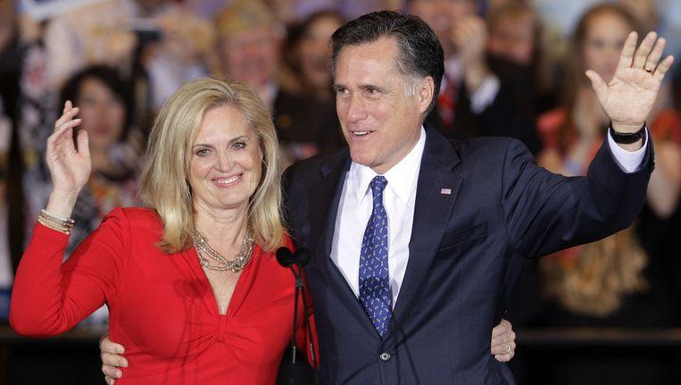Mitt Romney en zijn vrouw Ann. Beeld ap