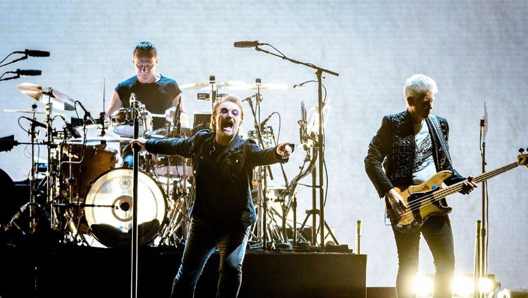 U2 tijdens een optreden in Amsterdam, 29 juli 2017 Beeld anp