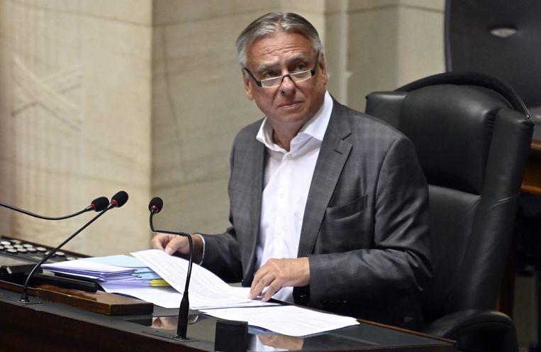 Kamervoorzitter Patrick Dewael (Open Vld). Beeld BELGA