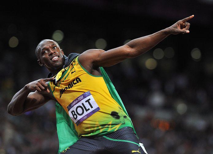Usain Bolt op de Spelen van 2012.