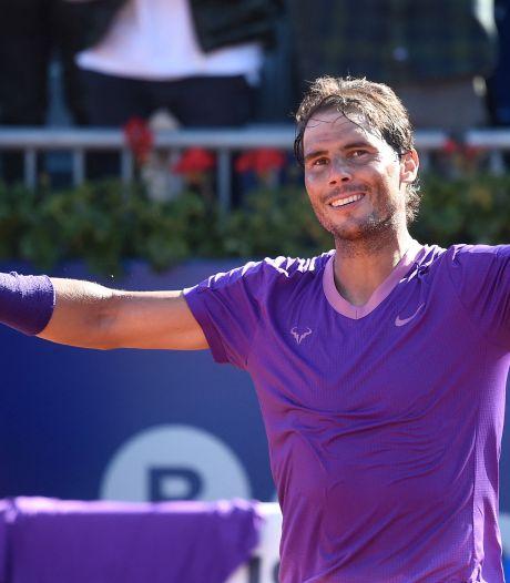 Nadal op koers voor twaalfde toernooizege in Barcelona