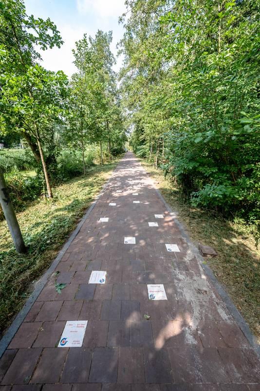 Het pad tussen de 's-Gravenweg en Abram van Rijckevorselweg in Capelle, is sinds 2018 omgedoopt tot Liefdeslaantje. Inmiddels liggen er bijna 230 tegels van geliefden.