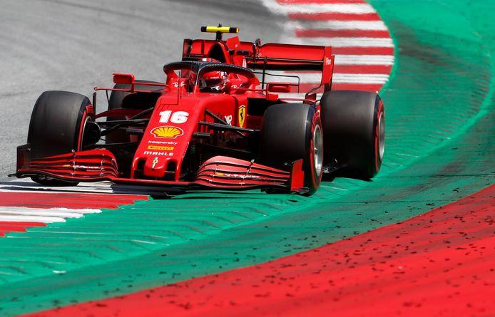 Charles Leclerc eindigde als zevende in de kwalificatie. Zijn teamgenoot Sebastian Vettel haalde Q3 niet eens.