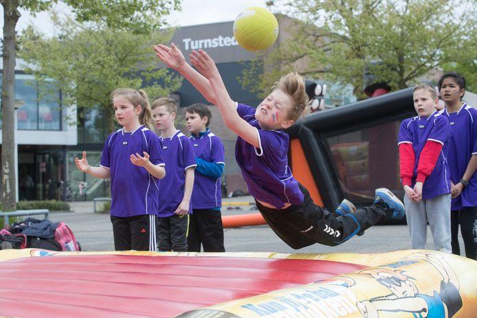 De sportdag van de basisschool in Ede.