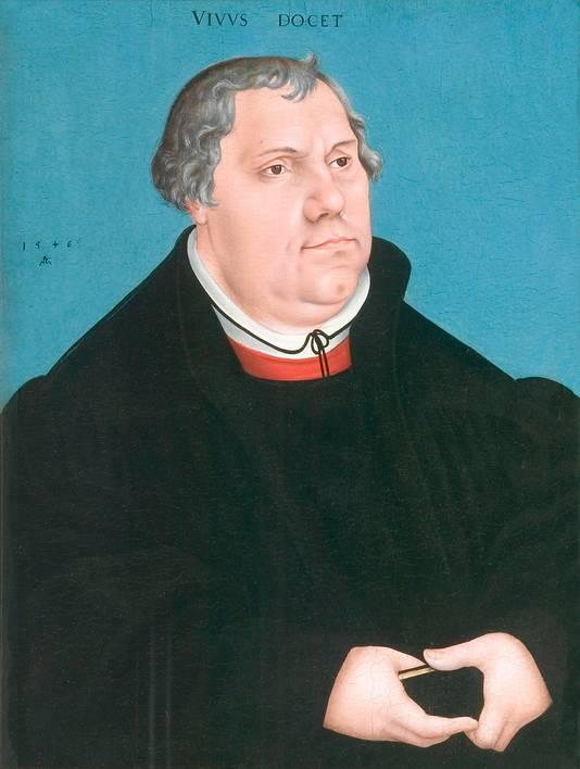 Luther, icoon van de Reformatie, portret van kunstschilder Lucas Cranach.
