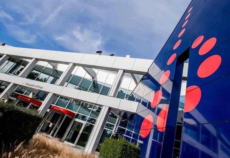 Het hoofdkantoor van Brussels Airlines. De luchtvaartmaatschappij dreigt in Duitse handen te vallen. Beeld EPA