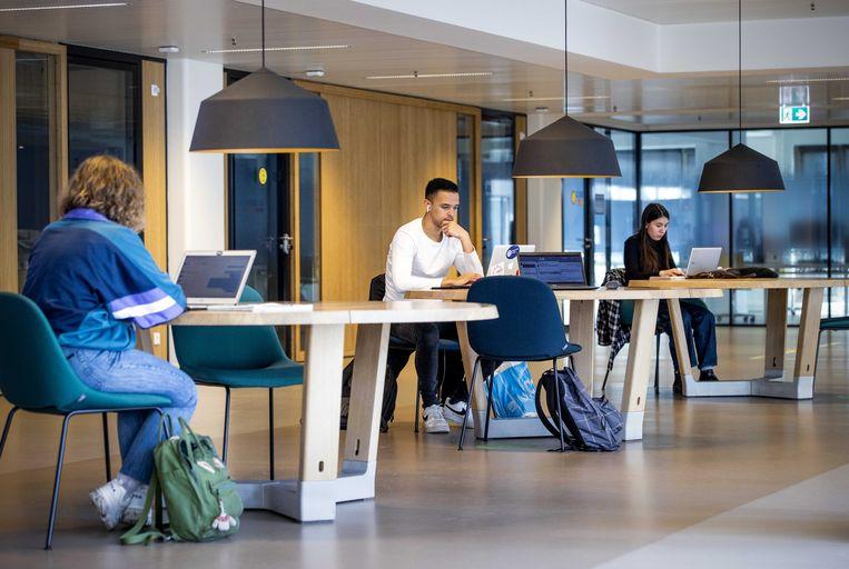 Studenten aan de Universiteit Leiden aan het werk.  Beeld Sem van der Wal / ANP