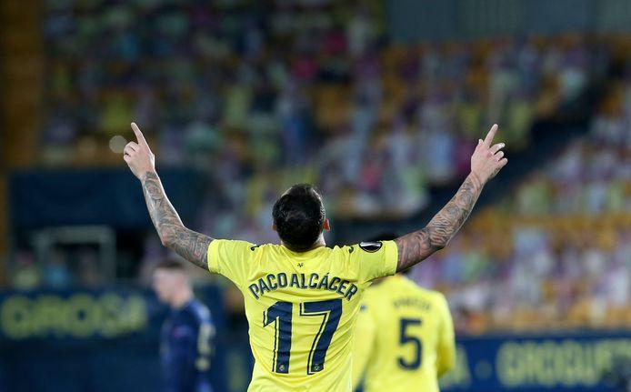 Alcácer vier zijn doelpunt in de kwartfinale tegen Dinamo Zagreb