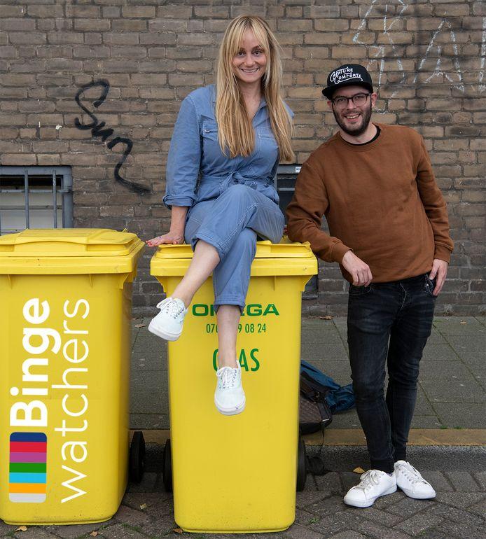 Charlene Heezen en Kevin Goes, de makers van de podcast Bingewatchers