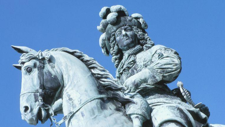 Standbeeld van de Zonnekoning, Louis XIV Beeld Thinkstock
