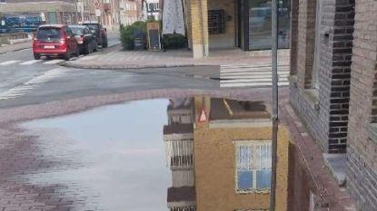 Stad al vijf weken op de hoogte van verzakt voetpad op Sint-Hubertusplein, maar plassen blijven voorlopig staan