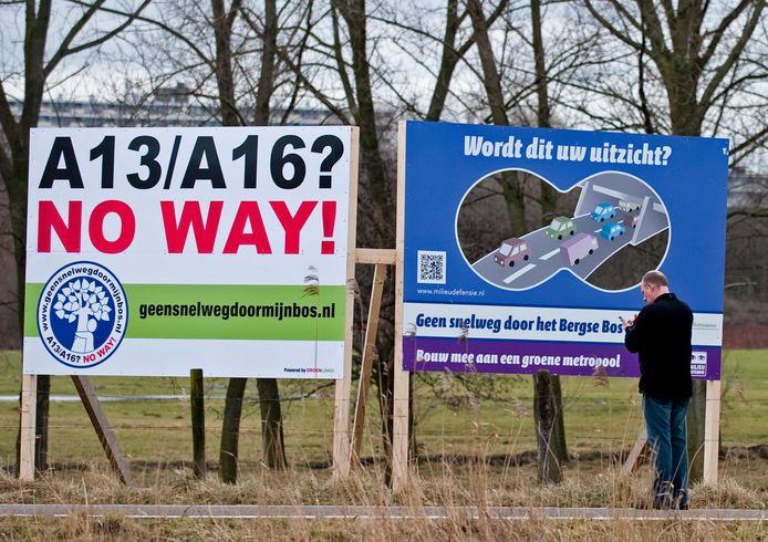 Omwonenden verzetten zich al jaren tegen de komst van de A13/16.