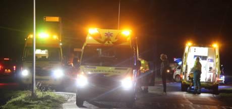 Vier gewonden bij frontale botsing in Haarle