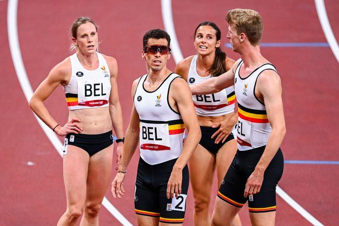 Vervaet, Jonathan Borlée, Laus en Doom zetten een Belgisch record neer in de jonge discipline.