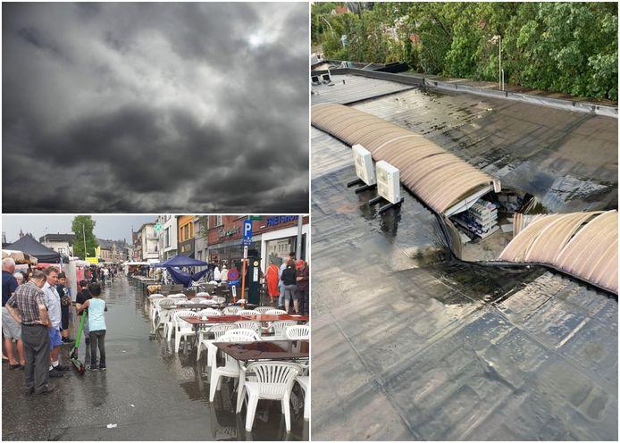 Beelden van de wateroverlast na onweer donderdagavond.