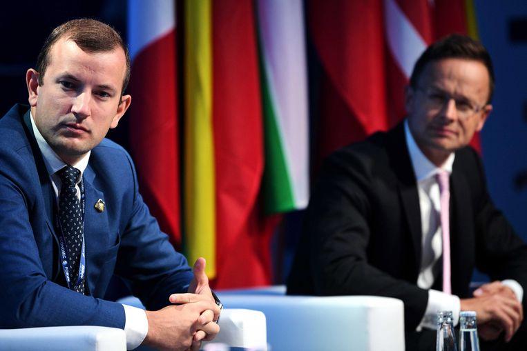Kersvers EU-commissaris Virginijus Sinkevičius (links). Beeld EPA
