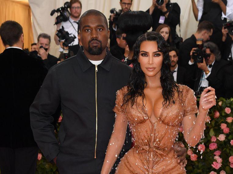 Kim Kardashian en Kanye West bij het Met Gala in New York vorige maand.