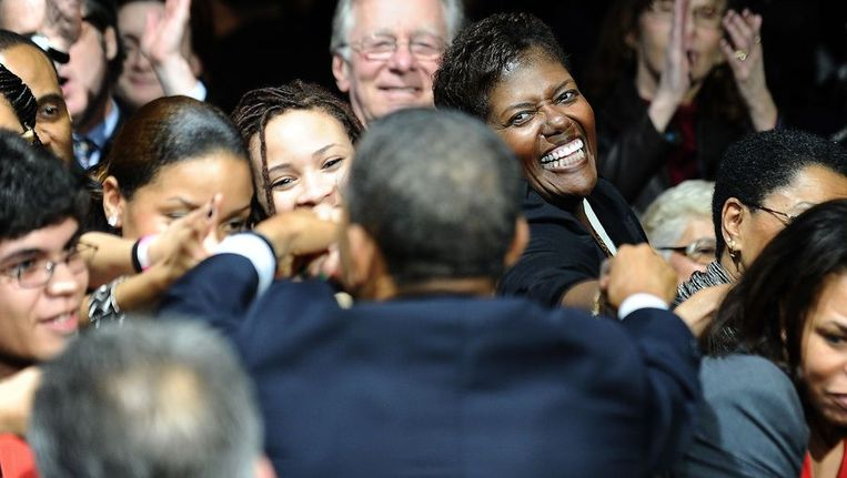 Supporters van president Obama. © Reuters. Beeld