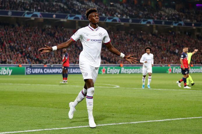 Tammy Abraham was gisteravond trefzeker voor Chelsea op bezoek bij Lille (1-2).