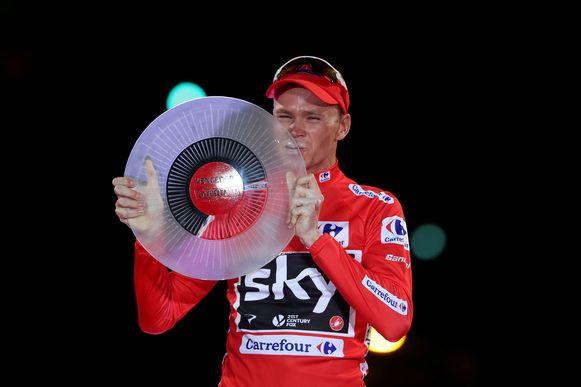 Froome won de Vuelta uiteindelijk in 2017.