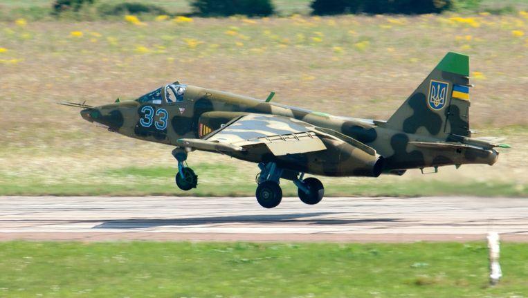 Een Soechoj Soe-25-grondaanvalsvliegtuig. Beeld epa