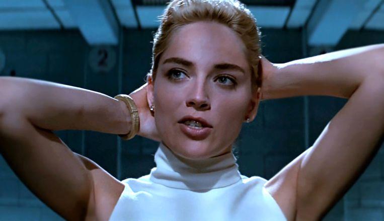 Sharon Stone in Basic Instinct. Beeld rv