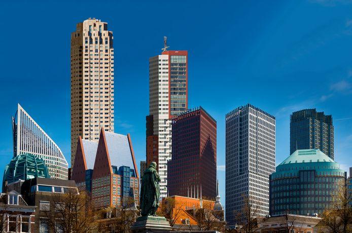 Torens van Den Haag en Rotterdam  in één fotomontage