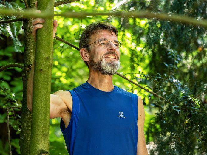 Trailrunner Jim Schouten (59) uit Kockengen.