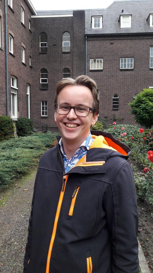 Danny Hakvoort, studeert in het Stadsklooster in Den Bosch. ,,De mensen hier zijn als een soort familie. Ik heb zoveel vertrouwen gekregen. Je kunt hier zijn wie je bent.''