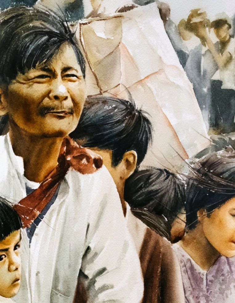 Tiffany Chung, The Vietnam Exodus Project, [detail], 2017, Beeld Smithsonian Museum of American Art