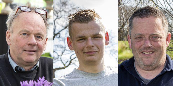 Hoveniers Gerben Calkhoven, Patrick Kreijkes en Rolph Markvoort