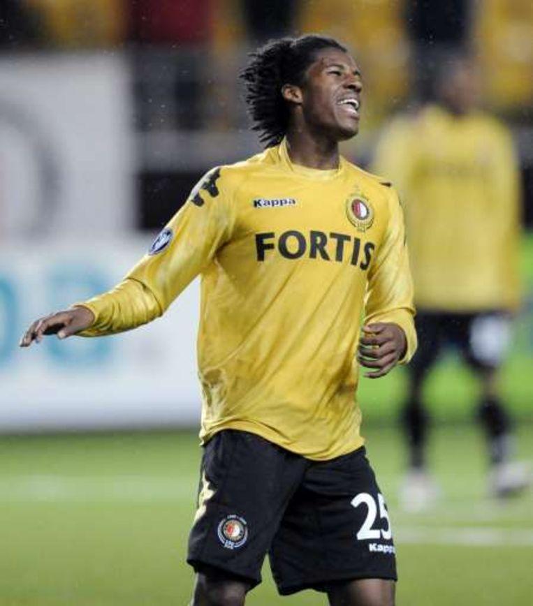 De 17-jarige Wijnaldum trapte Feyenoord bij Kalmar op voorsprong. Beeld UNKNOWN