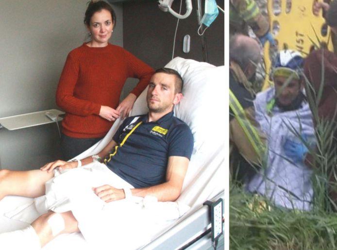Profrenner Edward Planckaert met zijn vriendin Charlotte Callens in het ziekenhuis