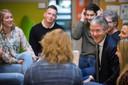 Minister Arie Slob in gesprek met docenten van De Vaart en het Vierbeek College in Oosterbeek, januari vorig jaar.