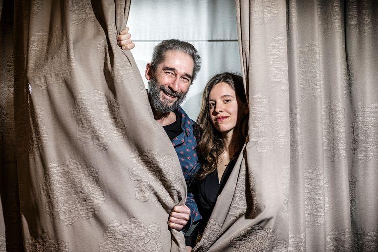 20200202 Brussel Belgie, Daniël Demoustier en dochter Zoë Demoustier Beeld Bob Van Mol