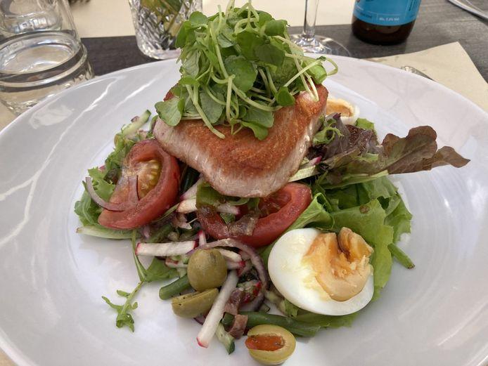 Salade Niçoise van restaurant Sint-Elooi in Waasmunster.