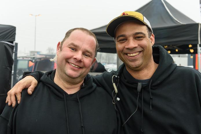 HENGELO - Organisatorren van het evenement. Enschedeër Marco Wulff (links) en Huddie Lee Stokes uit Twello.