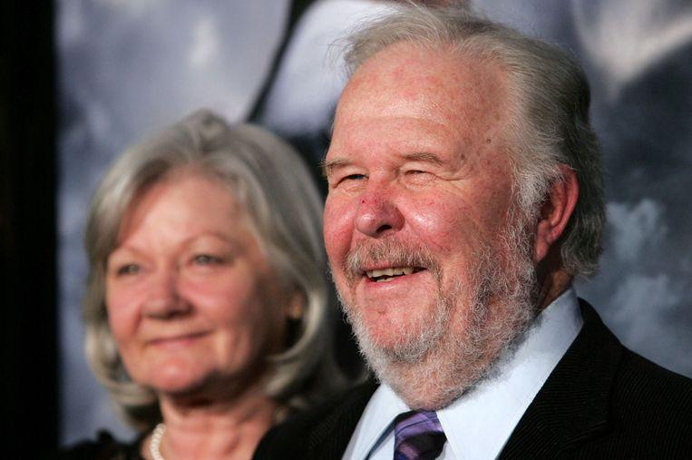 Ned Beatty (hier met zijn vrouw in maart 2007) overleed zondag. Beeld AFP