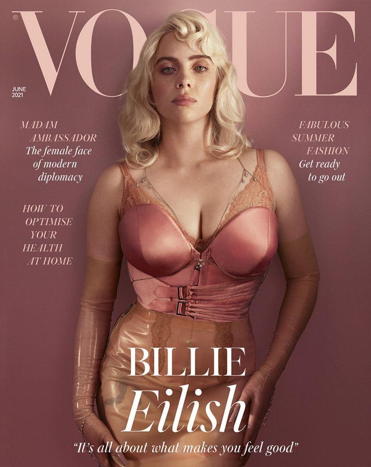 In juni stond BIllie Eilish opeens op de cover van de Britse Vogue. Beeld Vogue