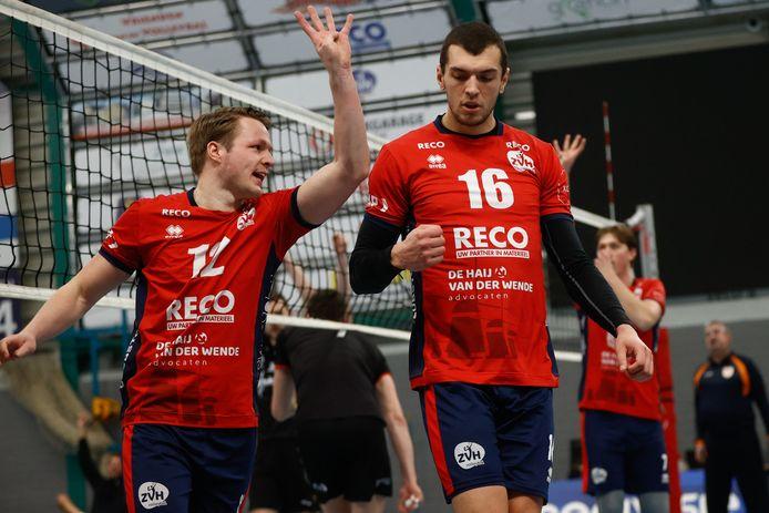 Vreugde bij Thomas van Rij (links) en Niels de Vries van RECO/ZVH