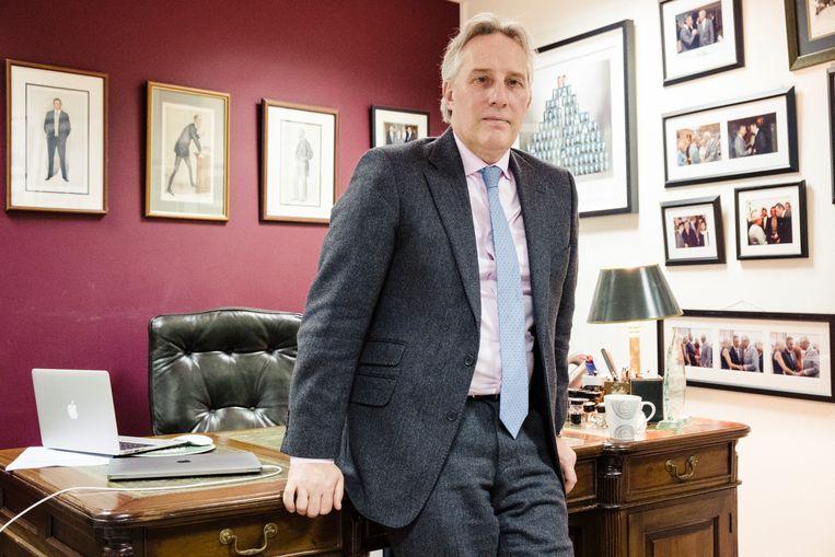 Ian Paisley Jr in zijn kantoor in Ballymena. Beeld Carlotta Cardana
