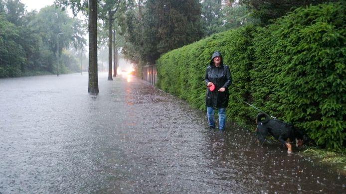 Natte voeten na hevige regenval. Het komt steeds vaker voor. Zeker in Geldrop en Mierlo waar veel woongebieden laag liggen.