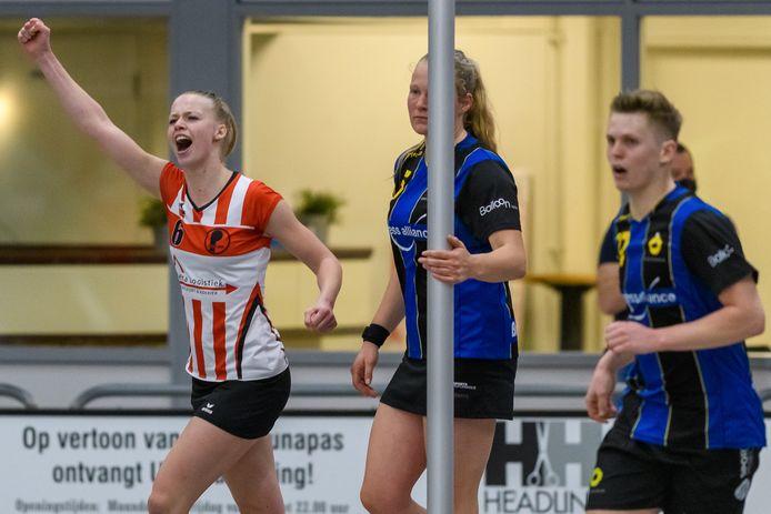 Fortuna-speelster Lieneke Pries is door het dolle heen: zij speelt zaterdag haar eerste zaalkorfbalfinale.