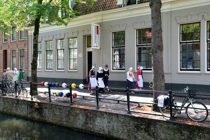 Het Mondriaanhuis aan de Kortegracht. Ter gelegenheid van de 150ste geboortedag van de kunstenaar worden daar in 2022 twee exposities gehouden.