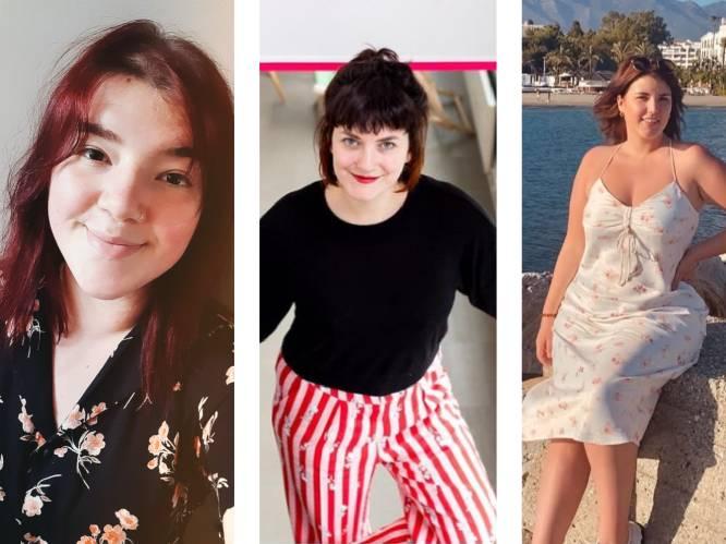 """Eva Mouton, Laura en Manon hebben 'shortvrees'. """"Het is al 8 jaar geleden dat ik er nog eentje droeg"""""""