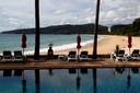 Leeg strand op Phuket in Thailand